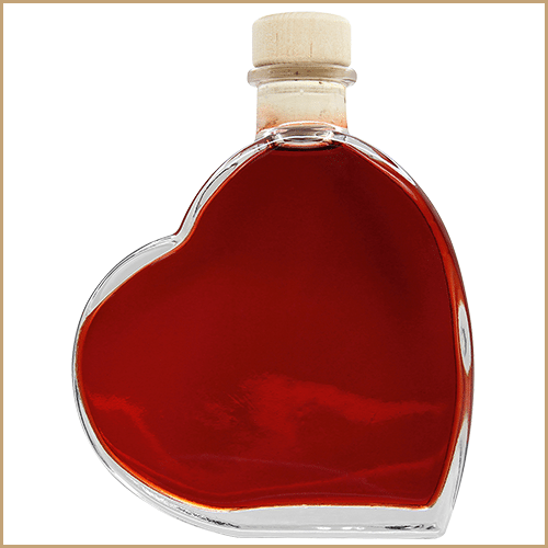 200ml glass bottle filled - Passion/Heart