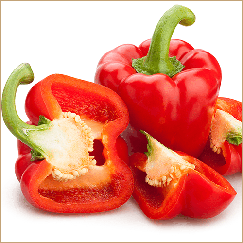 red bell pepper fruit pulp vinegar