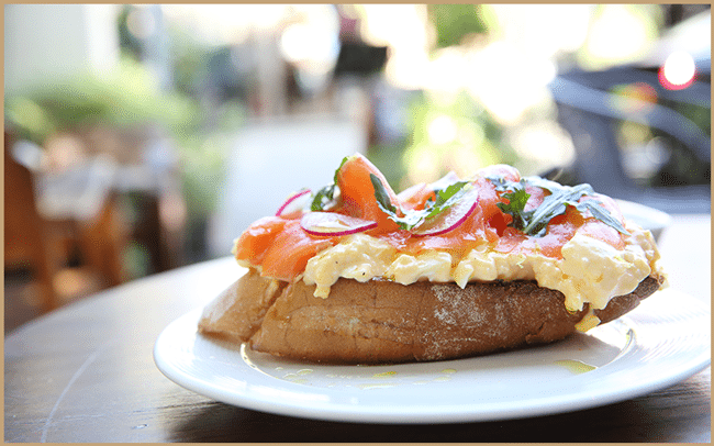 Smoked Salmon With Scrambled Egg