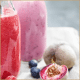 Vineyard Peach Smoothie With Berries And Yoghurt
