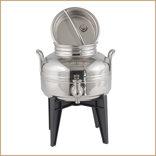 BC-CIL-02L-EU-Sansone Europa Steel Oil Drum With Stand