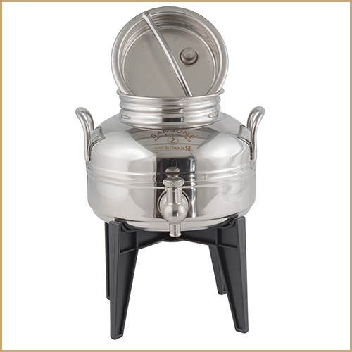 BC-CIL-02L-AQ-Sansone Europa Steel Water Drum With Stand